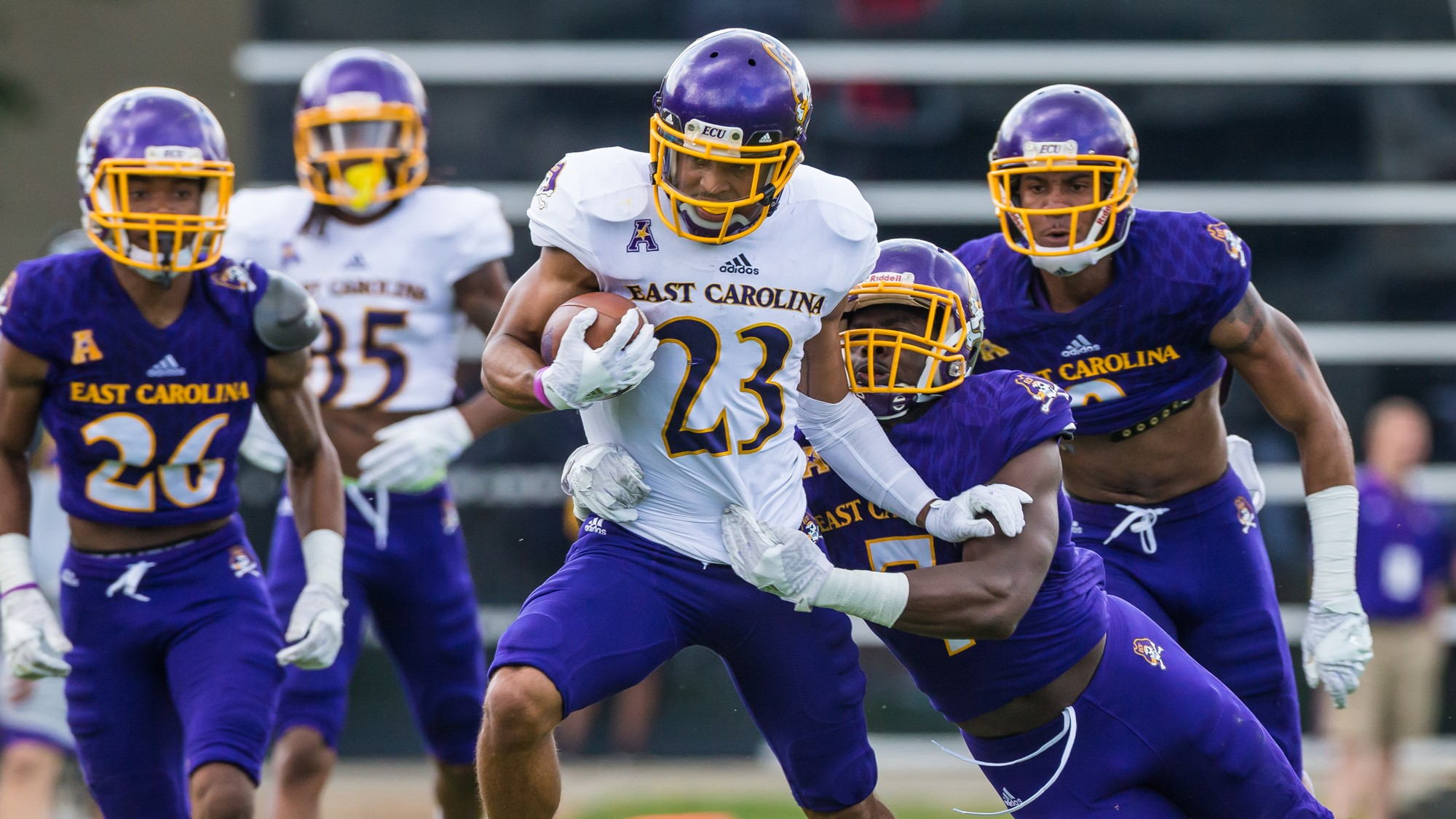 Spring Football Notebook No 14 Purple Gold Game East Carolina