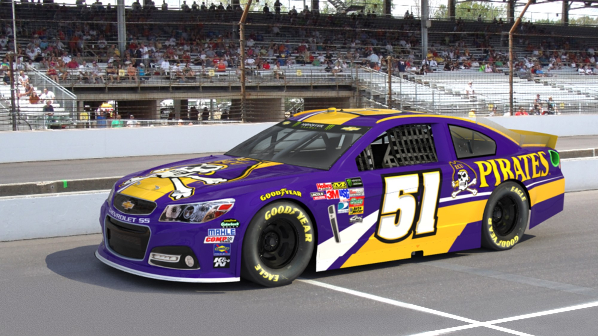 Rick Ware Racing Partners With East Carolina Pirates On New Initiative Launch
