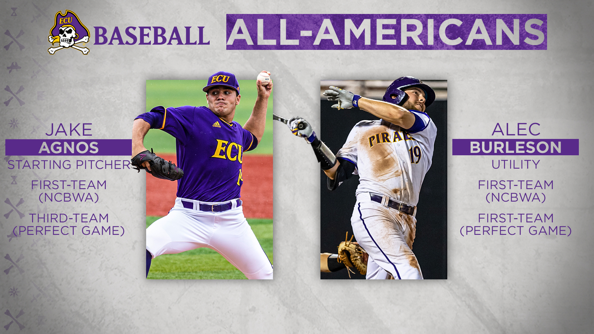 Agnos And Burleson Earn Two More All-America Honors - East Carolina