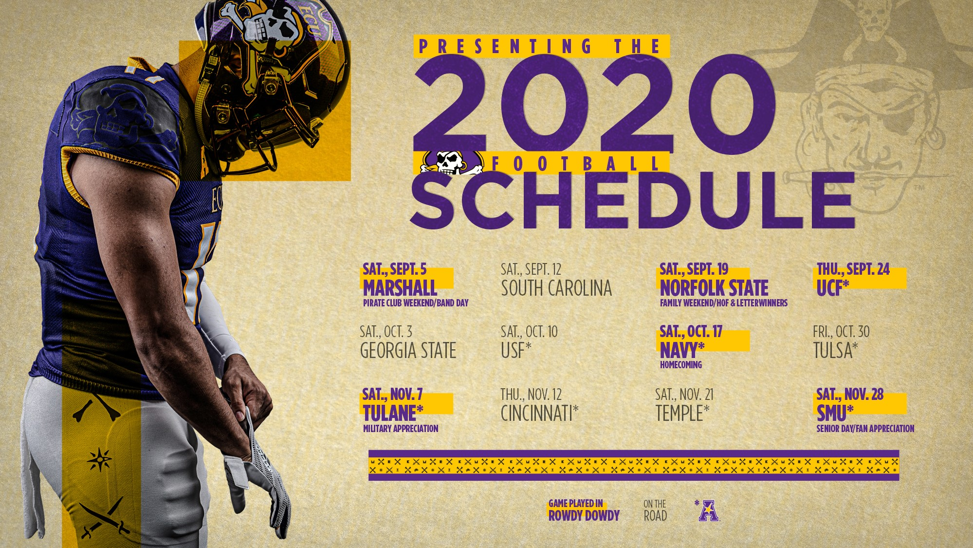 Ecu Announces 2020 Football Schedule East Carolina University Athletics